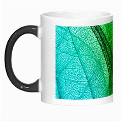 Sunlight Filtering Through Transparent Leaves Green Blue Morph Mugs by BangZart