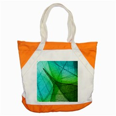 Sunlight Filtering Through Transparent Leaves Green Blue Accent Tote Bag by BangZart