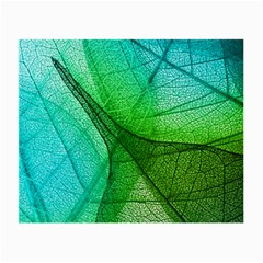 Sunlight Filtering Through Transparent Leaves Green Blue Small Glasses Cloth (2 Side)