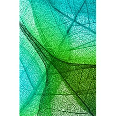 Sunlight Filtering Through Transparent Leaves Green Blue 5 5  X 8 5  Notebooks by BangZart