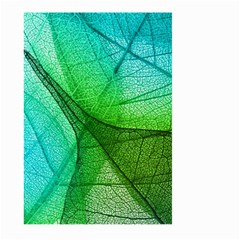 Sunlight Filtering Through Transparent Leaves Green Blue Large Garden Flag (two Sides) by BangZart