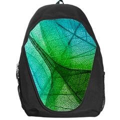 Sunlight Filtering Through Transparent Leaves Green Blue Backpack Bag