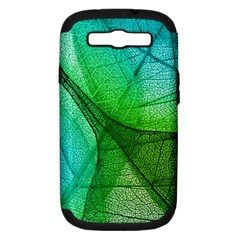 Sunlight Filtering Through Transparent Leaves Green Blue Samsung Galaxy S Iii Hardshell Case (pc+silicone) by BangZart