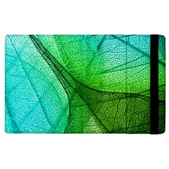 Sunlight Filtering Through Transparent Leaves Green Blue Apple Ipad 3/4 Flip Case by BangZart