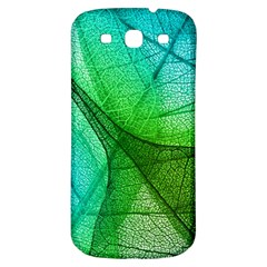 Sunlight Filtering Through Transparent Leaves Green Blue Samsung Galaxy S3 S Iii Classic Hardshell Back Case by BangZart