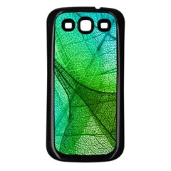 Sunlight Filtering Through Transparent Leaves Green Blue Samsung Galaxy S3 Back Case (black) by BangZart