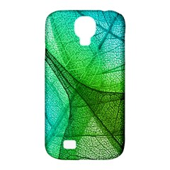 Sunlight Filtering Through Transparent Leaves Green Blue Samsung Galaxy S4 Classic Hardshell Case (pc+silicone) by BangZart