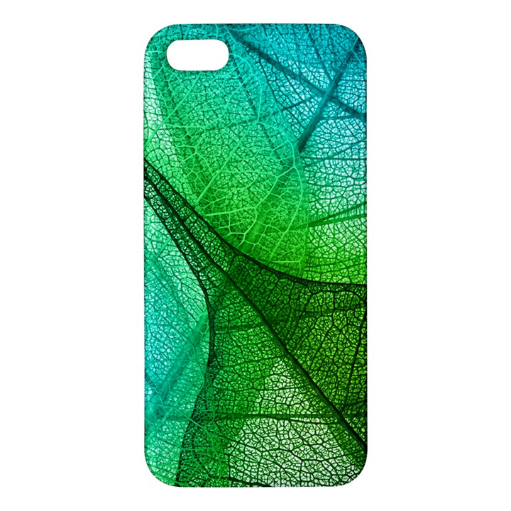 Sunlight Filtering Through Transparent Leaves Green Blue iPhone 5S/ SE Premium Hardshell Case