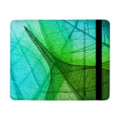Sunlight Filtering Through Transparent Leaves Green Blue Samsung Galaxy Tab Pro 8 4  Flip Case by BangZart