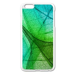 Sunlight Filtering Through Transparent Leaves Green Blue Apple Iphone 6 Plus/6s Plus Enamel White Case by BangZart