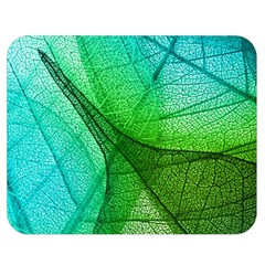 Sunlight Filtering Through Transparent Leaves Green Blue Double Sided Flano Blanket (medium)  by BangZart
