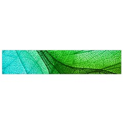 Sunlight Filtering Through Transparent Leaves Green Blue Flano Scarf (small)
