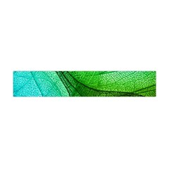 Sunlight Filtering Through Transparent Leaves Green Blue Flano Scarf (mini) by BangZart