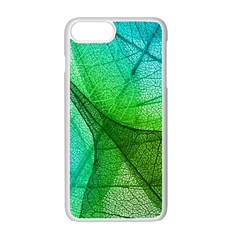 Sunlight Filtering Through Transparent Leaves Green Blue Apple Iphone 7 Plus White Seamless Case by BangZart