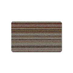Stripy Knitted Wool Fabric Texture Magnet (name Card) by BangZart