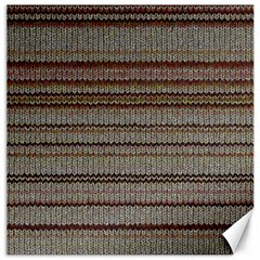 Stripy Knitted Wool Fabric Texture Canvas 12  X 12   by BangZart
