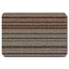 Stripy Knitted Wool Fabric Texture Large Doormat  by BangZart