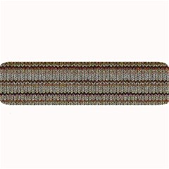 Stripy Knitted Wool Fabric Texture Large Bar Mats by BangZart