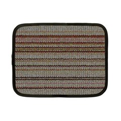 Stripy Knitted Wool Fabric Texture Netbook Case (small)