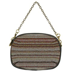 Stripy Knitted Wool Fabric Texture Chain Purses (two Sides)  by BangZart