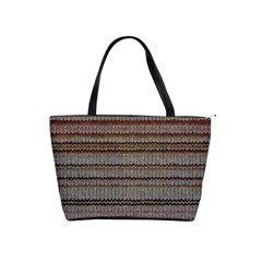 Stripy Knitted Wool Fabric Texture Shoulder Handbags by BangZart