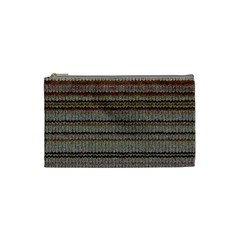 Stripy Knitted Wool Fabric Texture Cosmetic Bag (small)  by BangZart