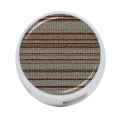 Stripy Knitted Wool Fabric Texture 4 Port Usb Hub (two Sides)