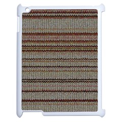 Stripy Knitted Wool Fabric Texture Apple Ipad 2 Case (white) by BangZart