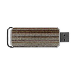 Stripy Knitted Wool Fabric Texture Portable Usb Flash (one Side) by BangZart