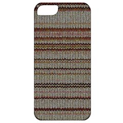 Stripy Knitted Wool Fabric Texture Apple Iphone 5 Classic Hardshell Case