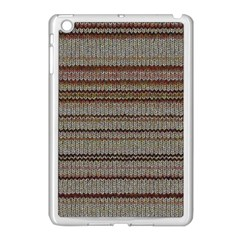 Stripy Knitted Wool Fabric Texture Apple Ipad Mini Case (white) by BangZart
