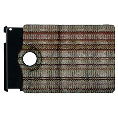 Stripy Knitted Wool Fabric Texture Apple Ipad 3/4 Flip 360 Case by BangZart