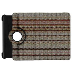 Stripy Knitted Wool Fabric Texture Kindle Fire Hd 7  by BangZart