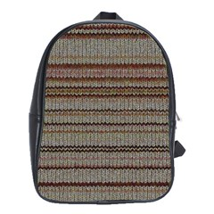 Stripy Knitted Wool Fabric Texture School Bags (xl)  by BangZart
