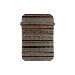 Stripy Knitted Wool Fabric Texture Apple Ipad Mini Protective Soft Cases by BangZart