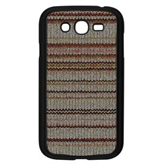 Stripy Knitted Wool Fabric Texture Samsung Galaxy Grand Duos I9082 Case (black) by BangZart