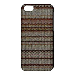 Stripy Knitted Wool Fabric Texture Apple Iphone 5c Hardshell Case by BangZart