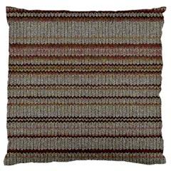 Stripy Knitted Wool Fabric Texture Standard Flano Cushion Case (two Sides) by BangZart