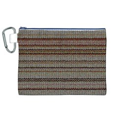 Stripy Knitted Wool Fabric Texture Canvas Cosmetic Bag (xl) by BangZart