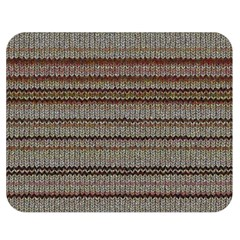 Stripy Knitted Wool Fabric Texture Double Sided Flano Blanket (medium)  by BangZart
