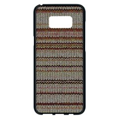 Stripy Knitted Wool Fabric Texture Samsung Galaxy S8 Plus Black Seamless Case