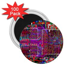 Technology Circuit Board Layout Pattern 2 25  Magnets (100 Pack)  by BangZart