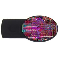 Technology Circuit Board Layout Pattern Usb Flash Drive Oval (2 Gb) by BangZart