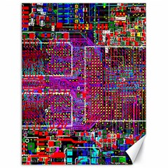 Technology Circuit Board Layout Pattern Canvas 18  X 24