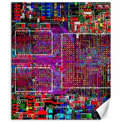 Technology Circuit Board Layout Pattern Canvas 20  X 24   by BangZart