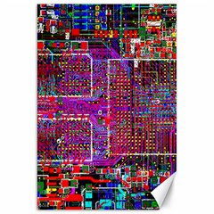 Technology Circuit Board Layout Pattern Canvas 20  X 30   by BangZart