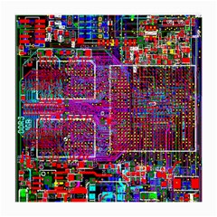 Technology Circuit Board Layout Pattern Medium Glasses Cloth (2 Side) by BangZart