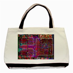 Technology Circuit Board Layout Pattern Basic Tote Bag (two Sides)