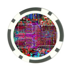 Technology Circuit Board Layout Pattern Poker Chip Card Guard by BangZart