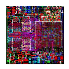 Technology Circuit Board Layout Pattern Face Towel by BangZart